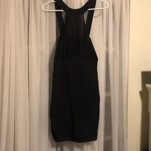 Black halter top dress